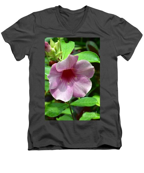 Bright Mandevillia Men's V-Neck T-Shirt