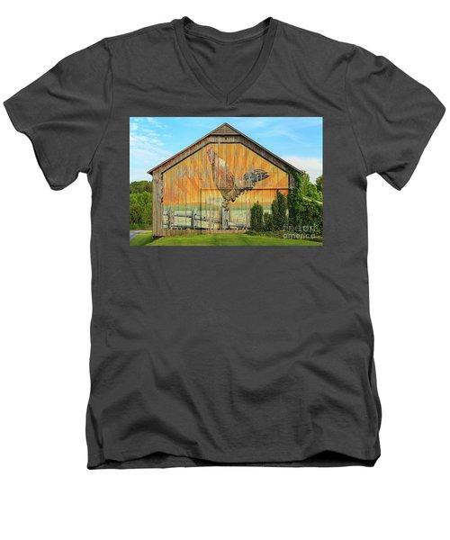 Bright Rooster Barn Men's V-Neck T-Shirt