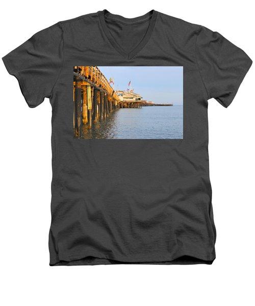 Bright Stearns Wharf Men's V-Neck T-Shirt
