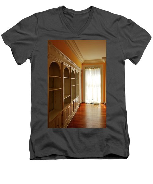 Men's V-Neck T-Shirt featuring the photograph Bright Window by Zawhaus Photography