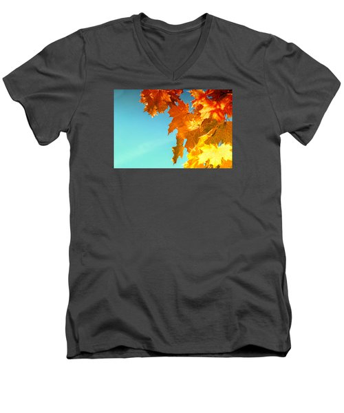 The Lord Of Autumnal Change Men's V-Neck T-Shirt by John Williams