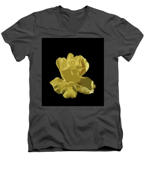Men's V-Neck T-Shirt featuring the photograph Bright Yellow Beauty by Laurel Powell