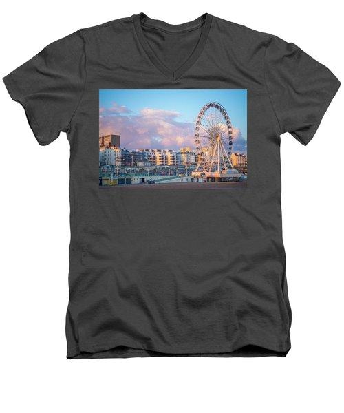Brighton Ferris Wheel Men's V-Neck T-Shirt