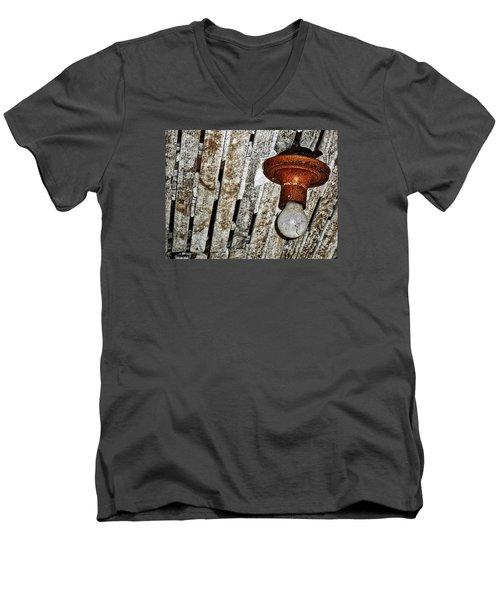 Brighton Homestead IIi Men's V-Neck T-Shirt by Jeff Iverson