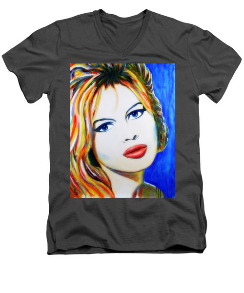 Brigitte Bardot Pop Art Portrait Men's V-Neck T-Shirt