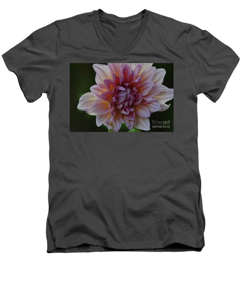 Brilliance Of A Dahlia Men's V-Neck T-Shirt