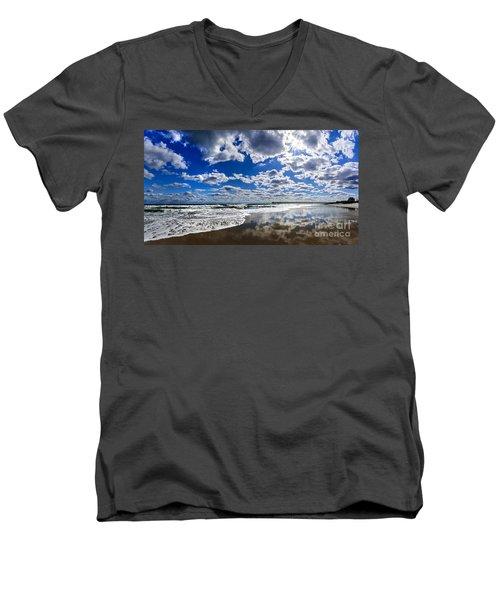 Brilliant Clouds Men's V-Neck T-Shirt