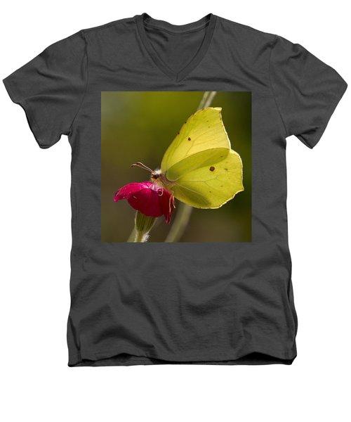 Men's V-Neck T-Shirt featuring the photograph Brimstone 2 by Jouko Lehto