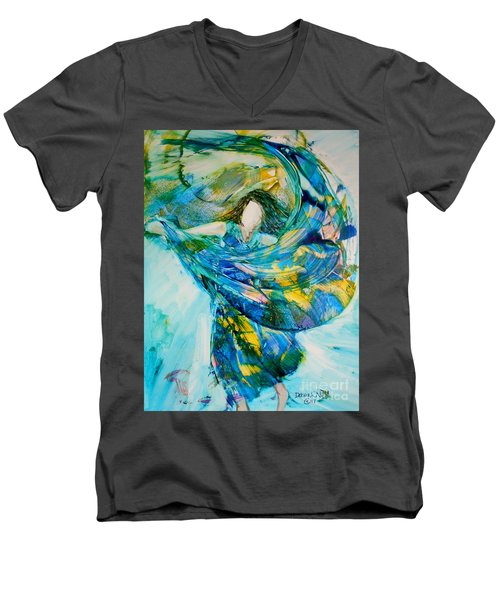 Men's V-Neck T-Shirt featuring the painting Bringing Heaven To Earth by Deborah Nell