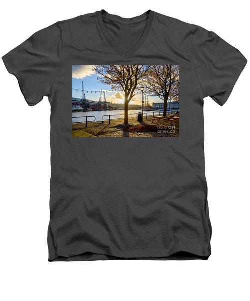Men's V-Neck T-Shirt featuring the photograph Bristol Harbour by Colin Rayner