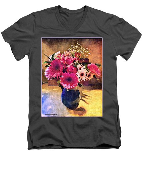 Brithday Wish Bouquet Men's V-Neck T-Shirt by MaryLee Parker