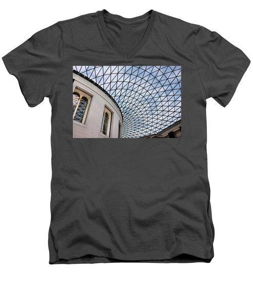 British Museum Men's V-Neck T-Shirt by James David Phenicie