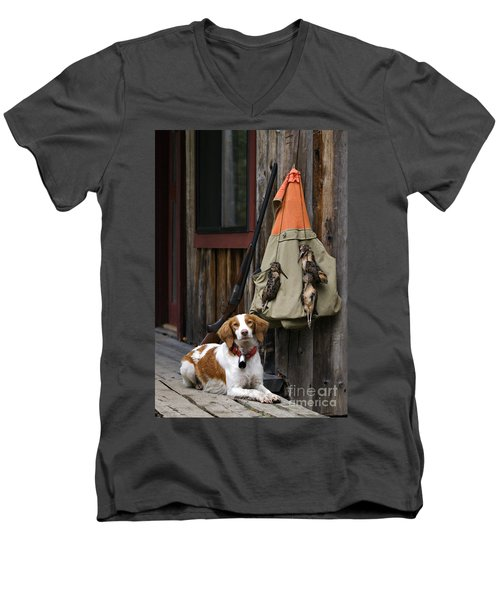 Brittany And Woodcock - D002308 Men's V-Neck T-Shirt by Daniel Dempster