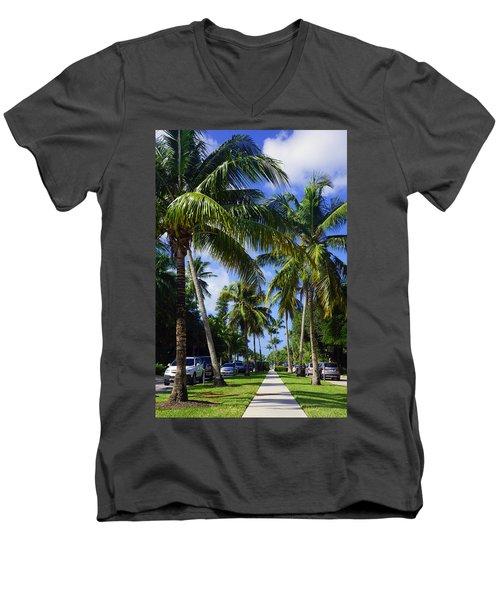 Broad Avenue South, Old Naples Men's V-Neck T-Shirt