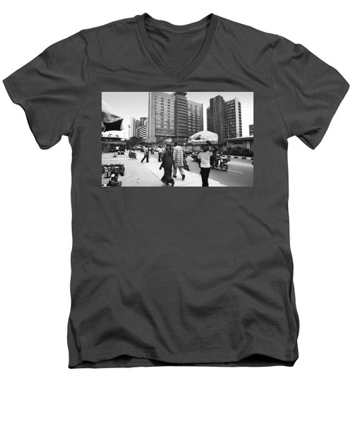 Broad Street -- Fmbn Men's V-Neck T-Shirt
