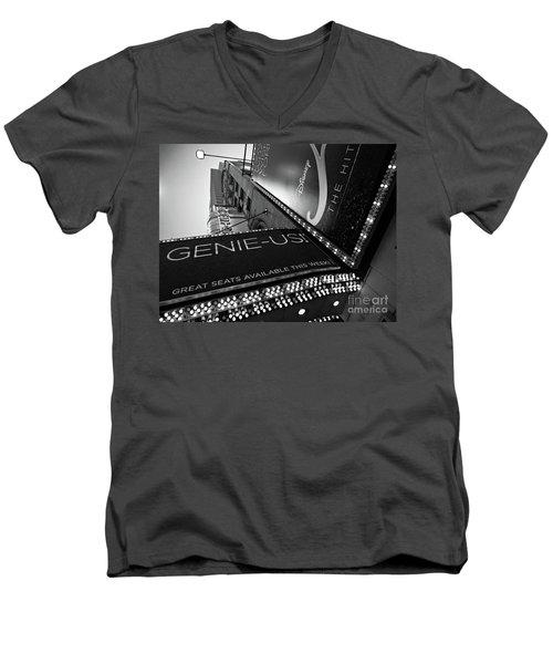 Broadway  -27868-bw Men's V-Neck T-Shirt by John Bald
