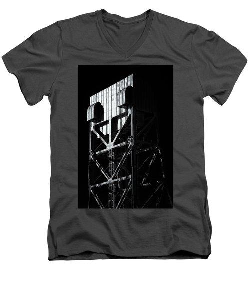 Broadway Bridge South Tower Detail 3 Monochrome Men's V-Neck T-Shirt