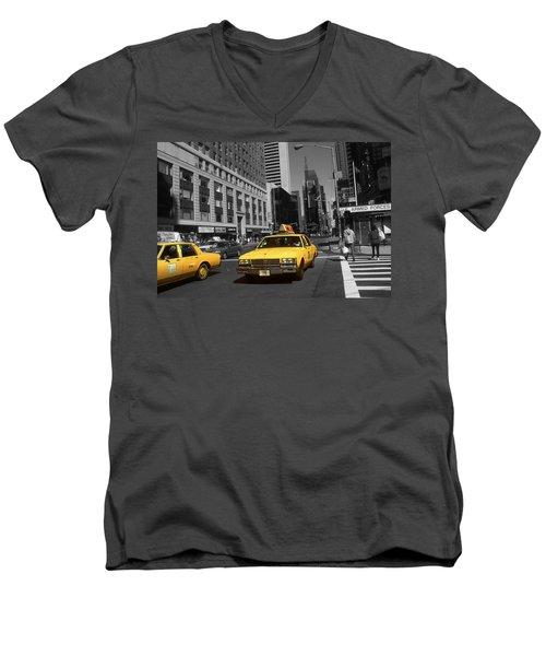 New York Yellow Taxi Cabs - Highlight Photo Men's V-Neck T-Shirt
