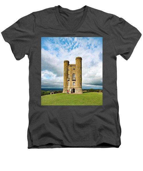 Broadway Tower Men's V-Neck T-Shirt
