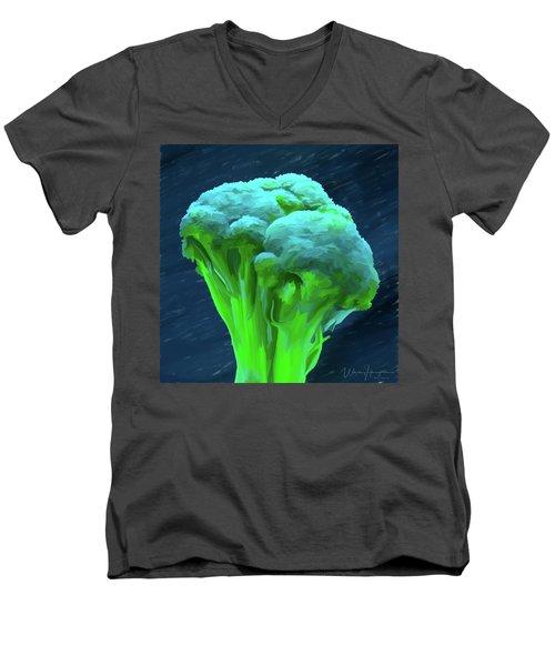 Broccoli 01 Men's V-Neck T-Shirt by Wally Hampton