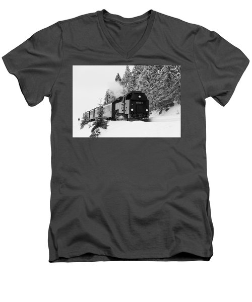 Brockenbahn, Harz Men's V-Neck T-Shirt