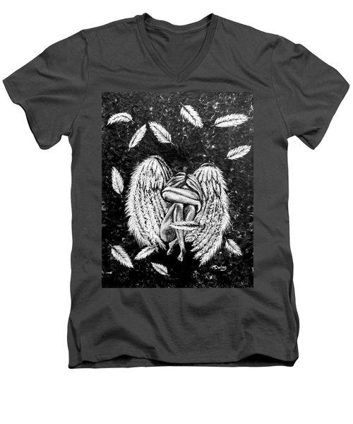 Broken Angel Men's V-Neck T-Shirt