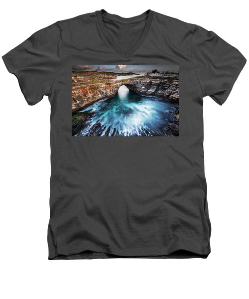 Broken Beach, Bali Men's V-Neck T-Shirt