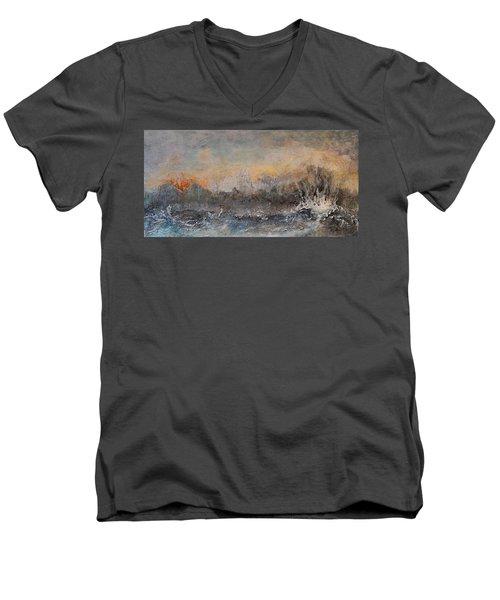 Broken Men's V-Neck T-Shirt by Theresa Marie Johnson