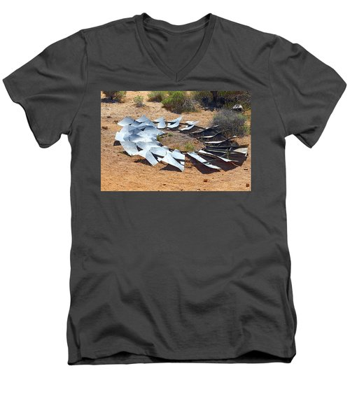 Men's V-Neck T-Shirt featuring the photograph Broken Wheel Of Fortune by Viktor Savchenko
