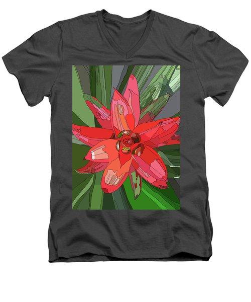 Bromiliad Men's V-Neck T-Shirt by Jamie Downs