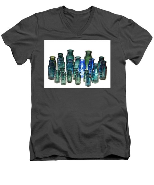 Bromo Seltzer Vintage Glass Bottles Collection Men's V-Neck T-Shirt