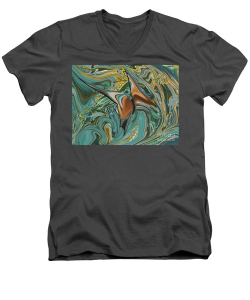 Bronze Butterfly Men's V-Neck T-Shirt