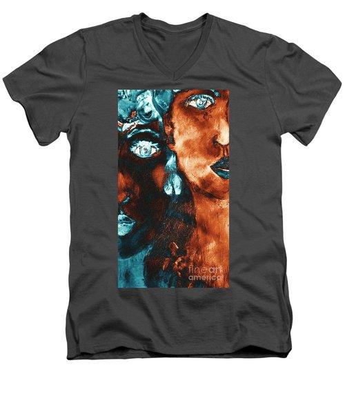 Bronze Sisters Painting Men's V-Neck T-Shirt