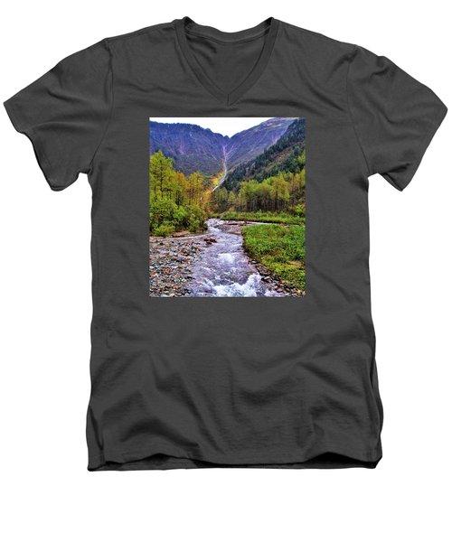 Brook Men's V-Neck T-Shirt