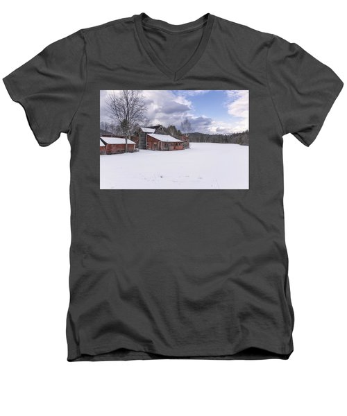 Brookline Winter Men's V-Neck T-Shirt