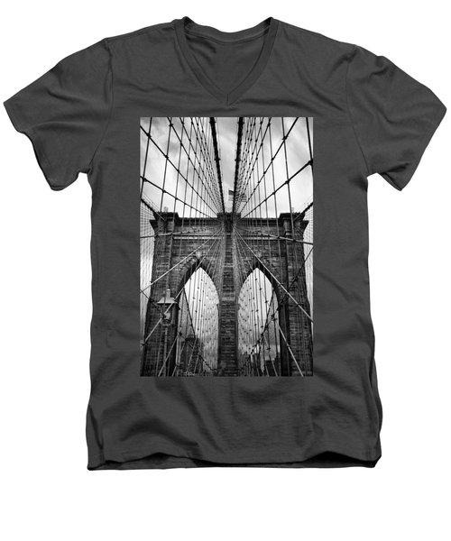 Brooklyn Bridge Mood Men's V-Neck T-Shirt