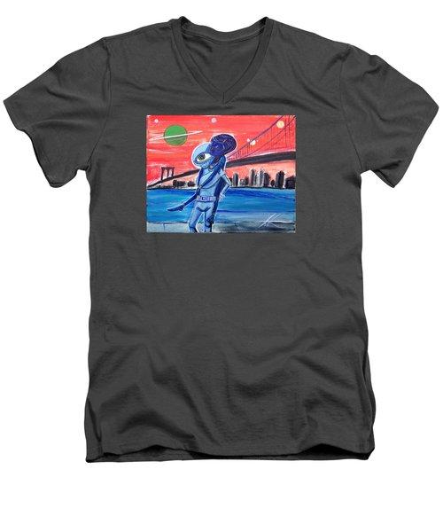 Brooklyn Play Date Men's V-Neck T-Shirt by Similar Alien