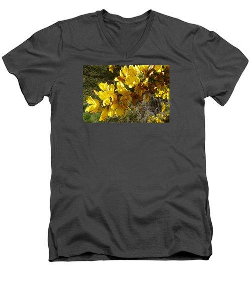 Broom In Bloom Men's V-Neck T-Shirt by Jean Bernard Roussilhe