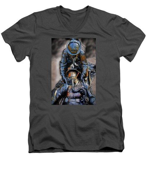 Brothers II Men's V-Neck T-Shirt by Susan McMenamin