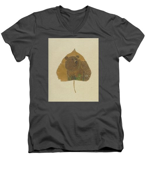 Brow Bear #2 Men's V-Neck T-Shirt by Ralph Root