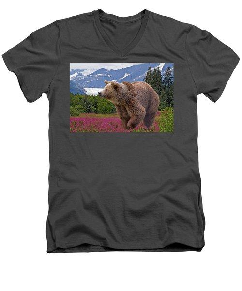 Brown Bear 2 Men's V-Neck T-Shirt