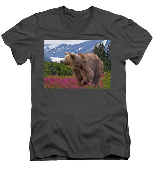 Brown Bear 2 Men's V-Neck T-Shirt