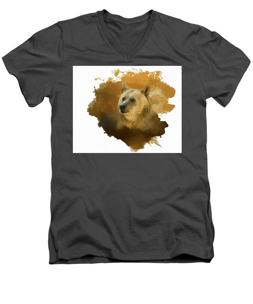 Brown Bear Men's V-Neck T-Shirt by Steven Richardson