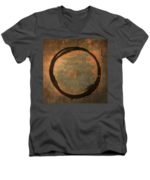 Brown Enso Men's V-Neck T-Shirt