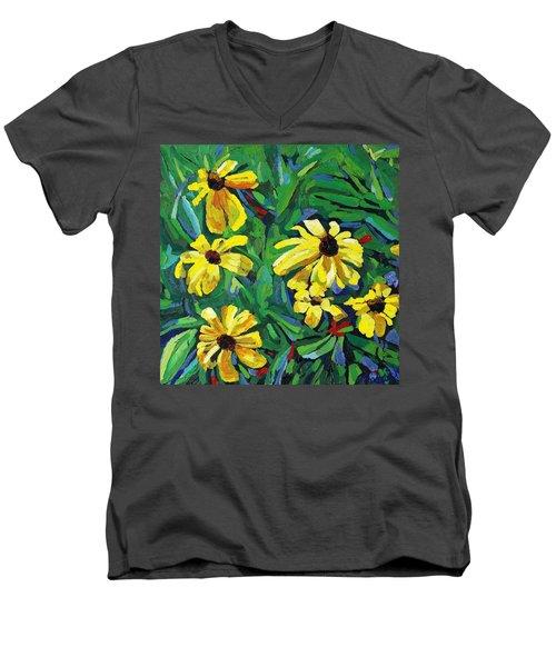 Brown-eyed Susans Men's V-Neck T-Shirt