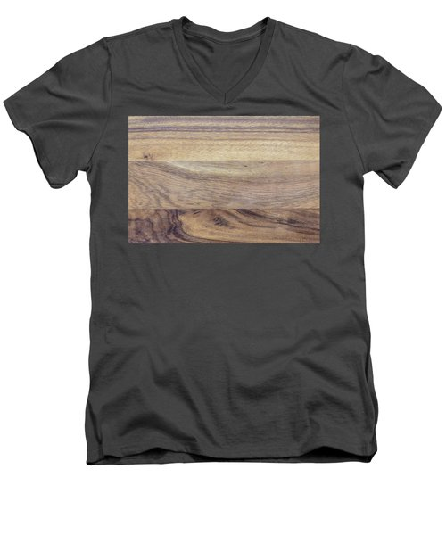 Brown Rubber Wooden Tray Handmade In Asia Men's V-Neck T-Shirt