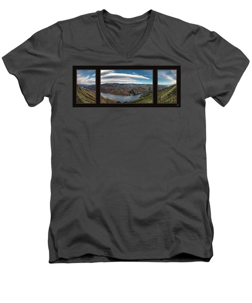 Men's V-Neck T-Shirt featuring the photograph Brownlee Triptych by Leland D Howard