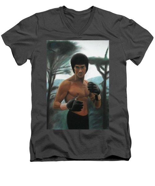 Bruce Lee - The Concentration  Men's V-Neck T-Shirt