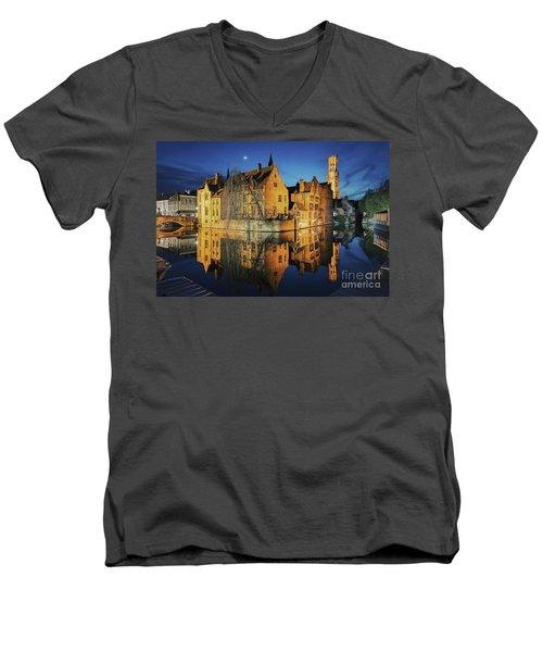 Brugge Men's V-Neck T-Shirt by JR Photography