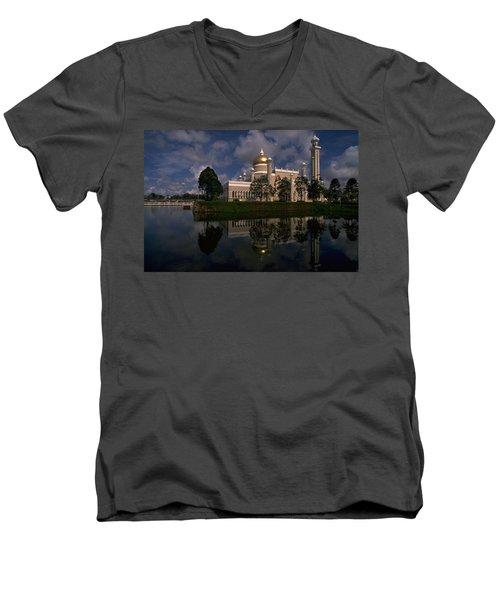 Brunei Mosque Men's V-Neck T-Shirt